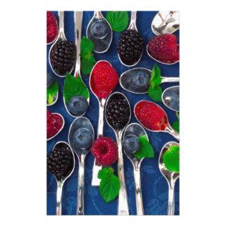 berry fruit background stationery