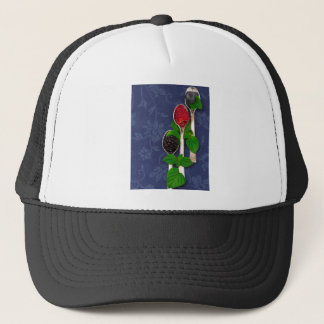 berry fruit background trucker hat