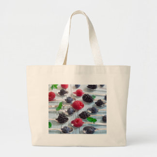 berry fruit large tote bag