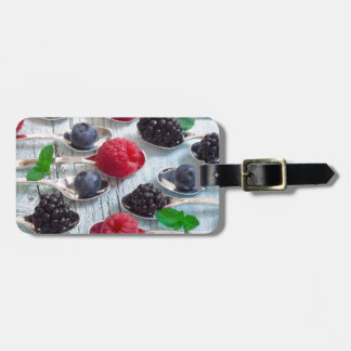 berry fruit luggage tag
