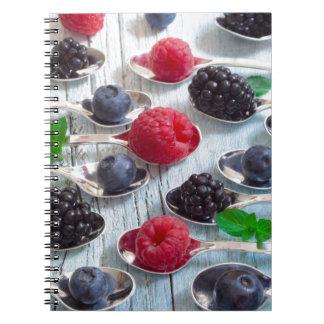 berry fruit notebooks