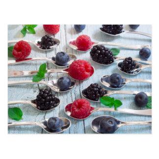 berry fruit postcard