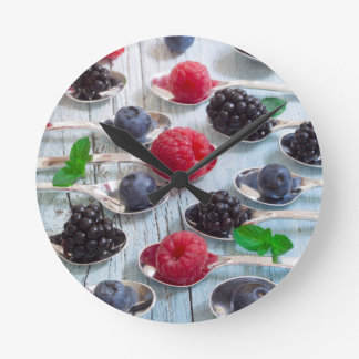 berry fruit round clock