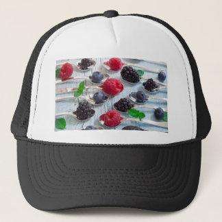 berry fruit trucker hat