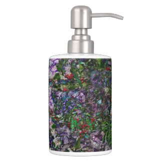 Berry Fusion Toothbrush Holder and Soap Dispenser