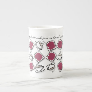 Berry Jam on Bread & Tea Tea Cup