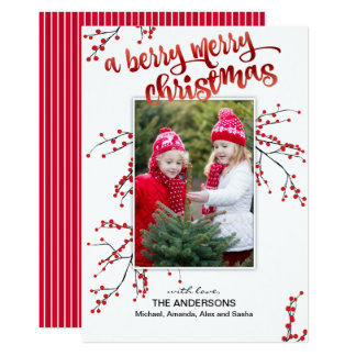 Berry Merry Christmas with Your Photo Card
