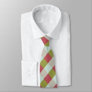 Berry Mint Olive Pebble Plaid Tie