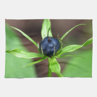 Berry of an herb paris (Paris quadrifolia) Towel