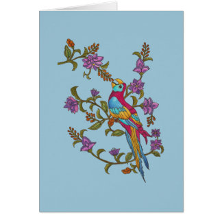 Berry Parrot Card