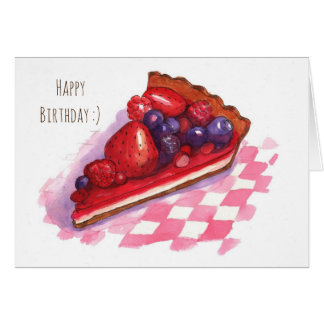 Berry pie greeting card