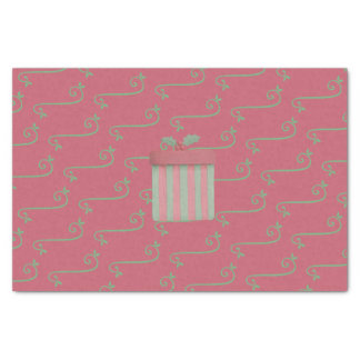 Berry Pink and Sage Green Christmas Gift Tissue Paper