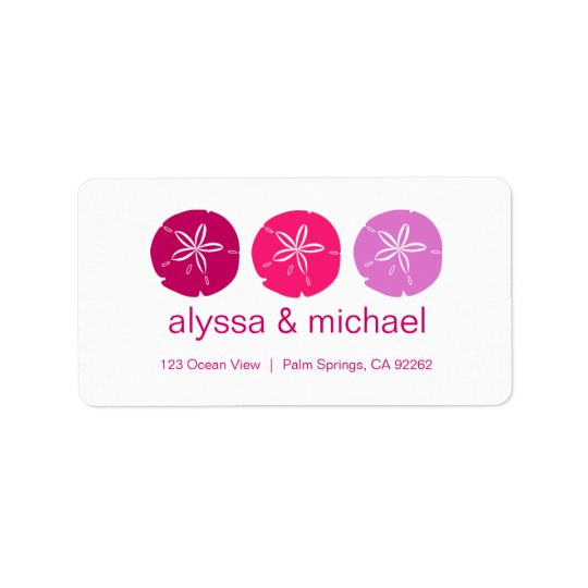 Berry Pink Sand Dollars Address Labels