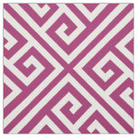 Berry Purple Greek Key Large Scale Fabric