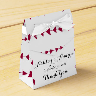 Berry Red White Aztec Arrows Pattern Party Favor Box