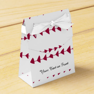 Berry Red White Aztec Arrows Pattern Wedding Favor Box