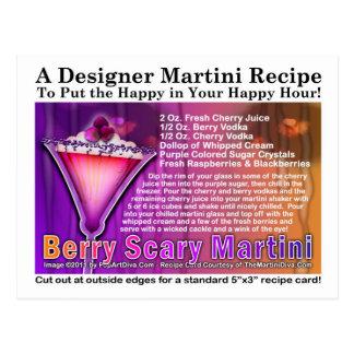 Berry Scary Halloween Martini Recipe Postcard