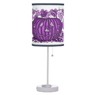 Berry Spidery Pumpkin Table Lamp