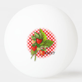 Berry Sweet with Strawberries Ping Pong Ball