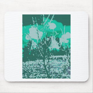 berry tree collage mouse pad