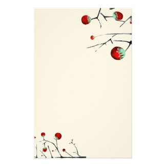 Berry tree embossed finish art paper stationery