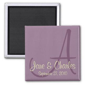 Berry & Vanilla Monogram • Save the Date Magnet