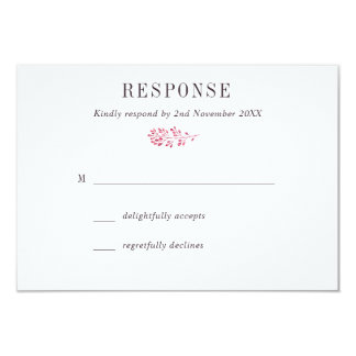 Berry Wedding RSVP Card