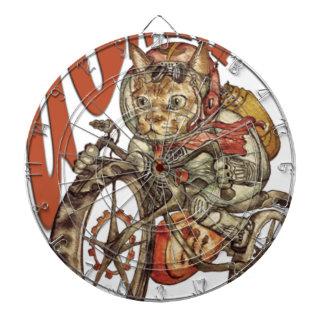 Berserk Steampunk Motorcycle Cat Go Wild T-Shirt.p Dartboard