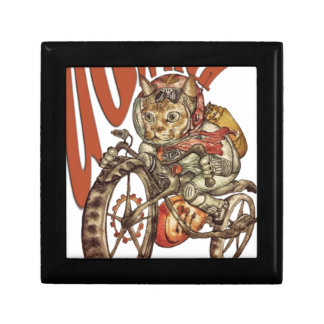 Berserk Steampunk Motorcycle Cat Go Wild T-Shirt.p Gift Box