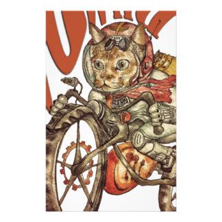 Berserk Steampunk Motorcycle Cat Go Wild T-Shirt.p Stationery
