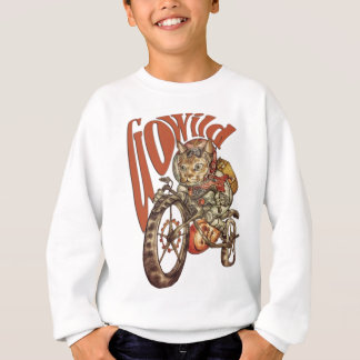 Berserk Steampunk Motorcycle Cat Go Wild T-Shirt.p Sweatshirt