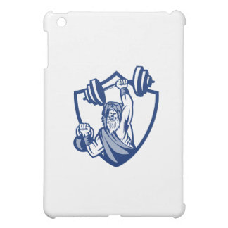 Berserker Lifting Barbell Kettlebell Crest Retro iPad Mini Case