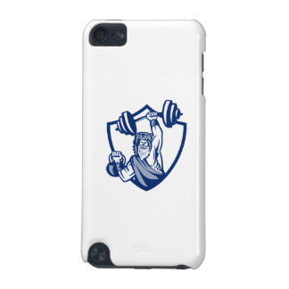 Berserker Lifting Barbell Kettlebell Crest Retro iPod Touch (5th Generation) Covers