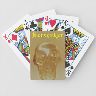 Berserker Skull Bicycle Playing Cards