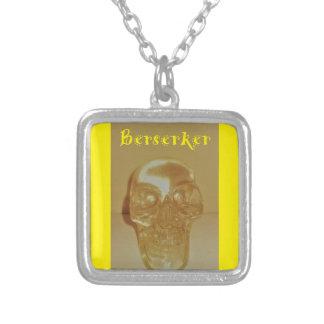 Berserker Skull Silver Plated Necklace