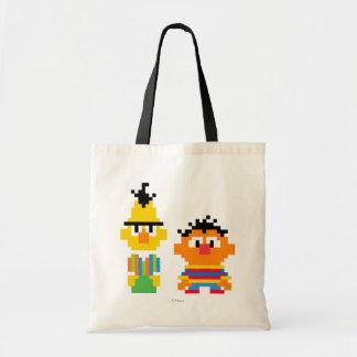 Bert and Ernie Pixel Art Budget Tote Bag