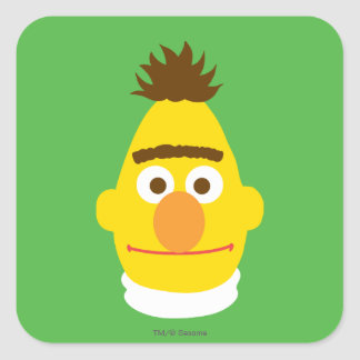 Bert Face Square Sticker
