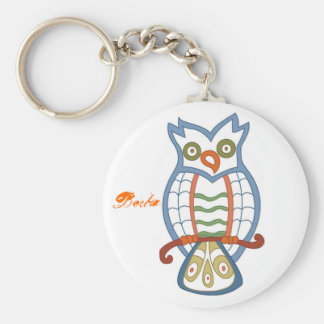 Berta in the owl forest keychain