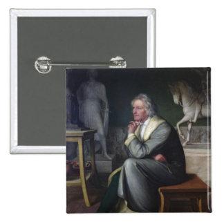 Bertel Thorvaldsen in his studio at Rome, 1834 2 Inch Square Button