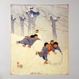 Bertha Boynton Lum Snowballs Poster