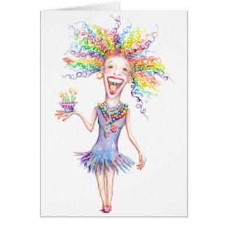 Bertha the Birthday Broad Greeting Card