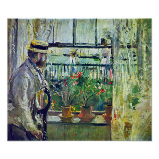 Berthe Morisot - Manet on the Isle of Wight Poster