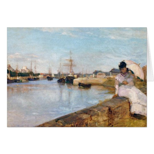 Berthe Morisot The Harbour at Lorient Card