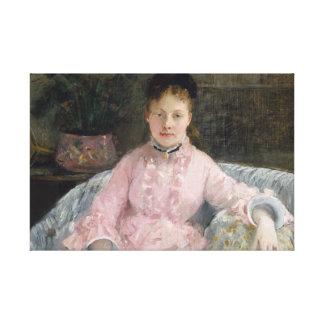 Berthe Morisot - The Pink Dress Canvas Print