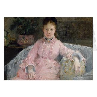 Berthe Morisot - The Pink Dress Card