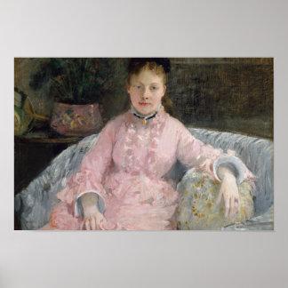 Berthe Morisot - The Pink Dress Poster