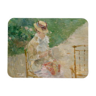Berthe Morisot - Young Woman Knitting Magnet
