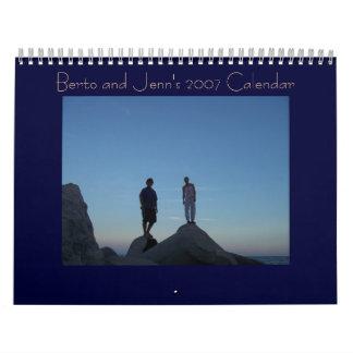 Berto and Jenn's 2007 Calendar