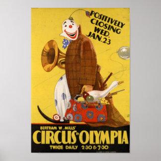 Bertram Mills' Circus at Olympia Poster