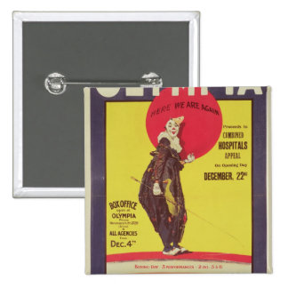 Bertram Mills circus poster 2 Inch Square Button